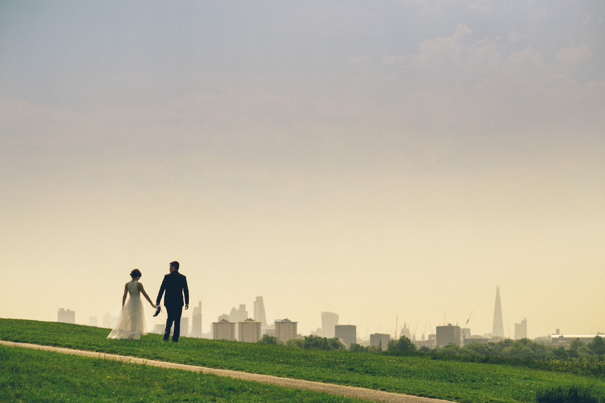 London skyline wedding